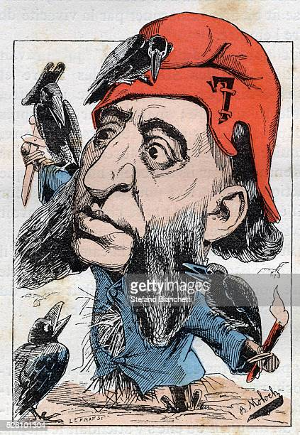 Illustration from Le Trombinoscope by Touchatout caricature by B Moloch 1882