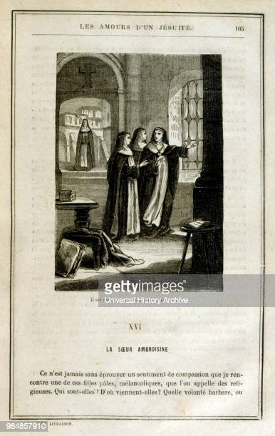 Illustration from Les amours d'un Jesuit by Gustave Graux. .