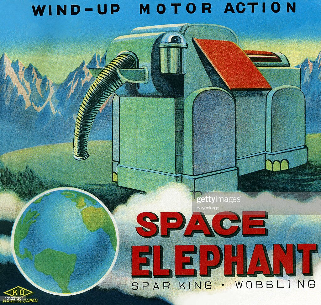 Illustration from the box of a science fiction-related children's toy.