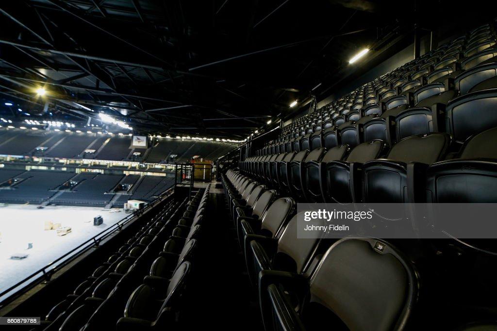 Illustration General View during a visit of U Arena at U Arena on October 13, 2017 in Nanterre, France.