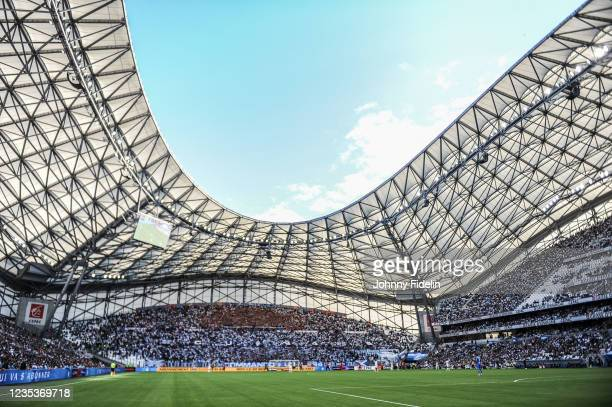 Illustration General View during the Ligue 1 Uber Eats match between Marseille and Rennes at Orange Velodrome on September 19, 2021 in Marseille,...