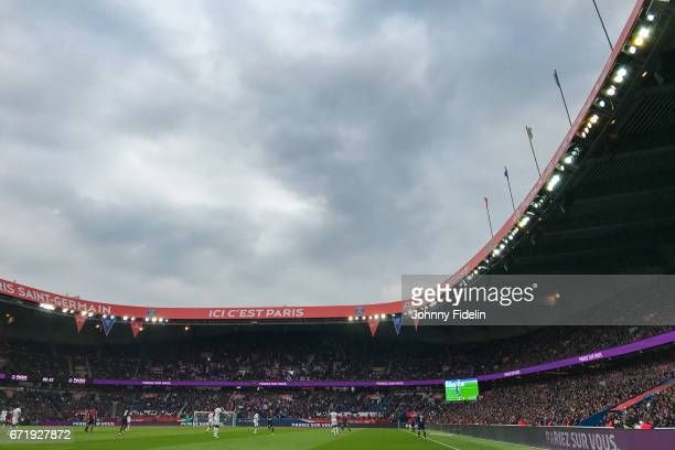 Illustration General View of Parc des Princes during the French Ligue 1 match between Paris Saint Germain and Montpellier Herault at Parc des Princes...