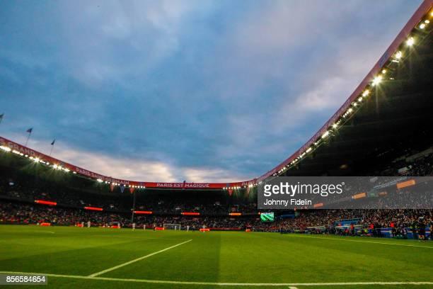 Illustration General View of Parc Des Princes during the Ligue 1 match between Paris Saint Germain and FC Girondins de Bordeaux at Parc des Princes...