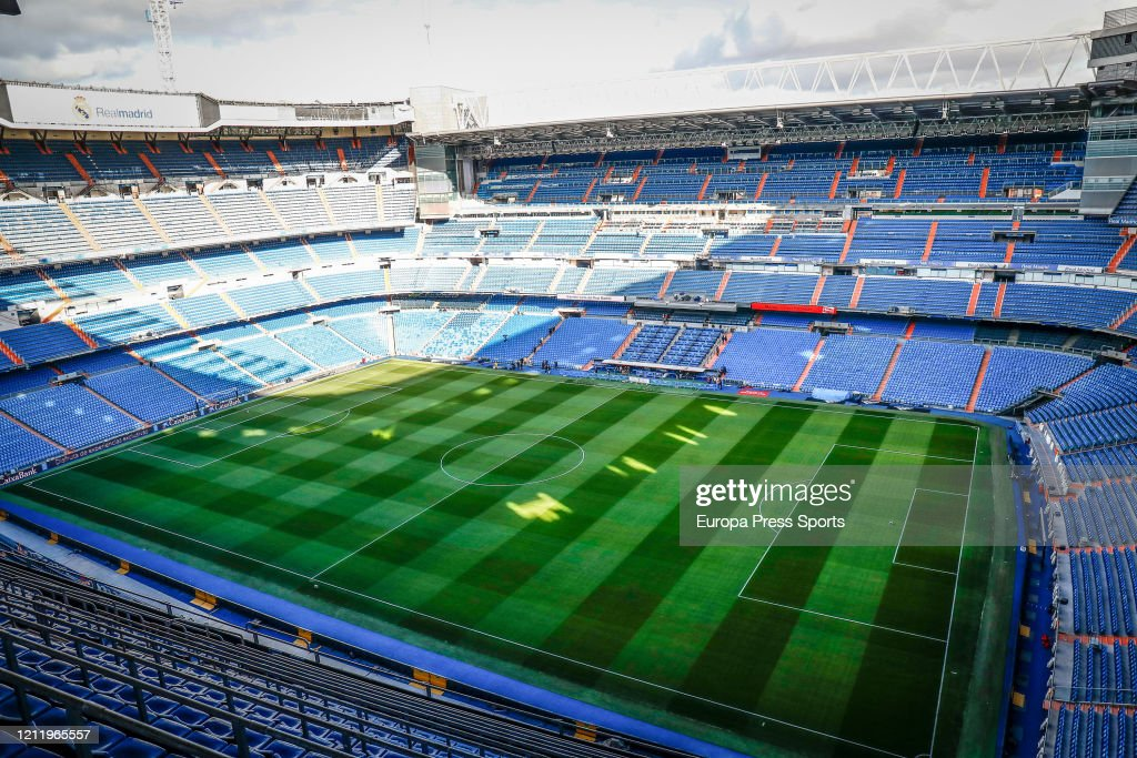 Illustrations from Santiago Bernabeu Stadium : News Photo