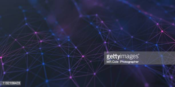 illustration geometric abstract background with connected line and dots,futuristic digital background for business science and technology - joining the dots - fotografias e filmes do acervo
