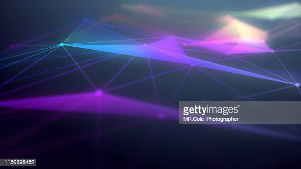 illustration geometric abstract background with connected line and dots,futuristic digital background for business science and technology - connect the dots stock pictures, royalty-free photos & images