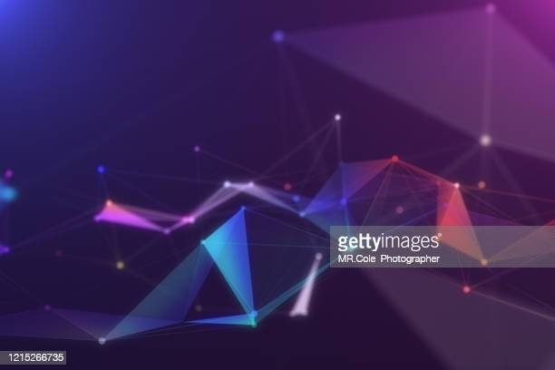 illustration geometric abstract background with connected line and dots,futuristic digital background for business science and technology - image stock pictures, royalty-free photos & images