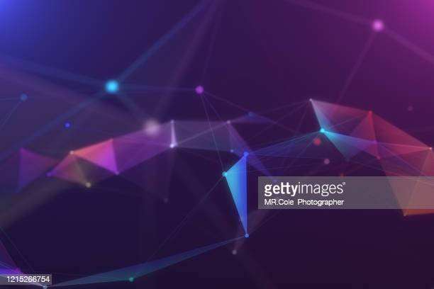illustration geometric abstract background with connected line and dots,futuristic digital background for business science and technology - sayings stock pictures, royalty-free photos & images