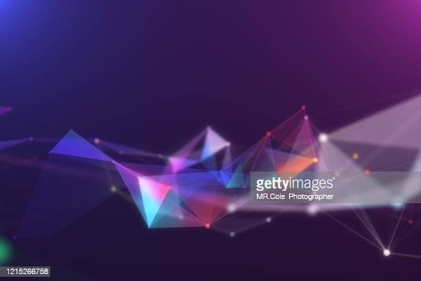 illustration geometric abstract background with connected line and dots,futuristic digital background for business science and technology - globale kommunikation stock-fotos und bilder