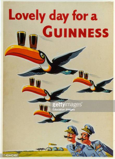 Illustration Guinness advertisement featuring Toucans