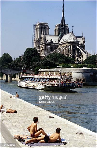 Illustration Heat wave in Paris France on July 18 1995