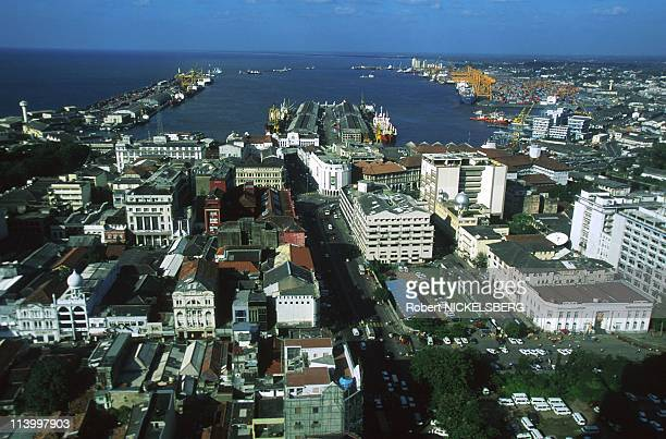 Illustration: In Colombo, Sri Lanka In March, 1998-Colombo: port area, picture from world trade center.