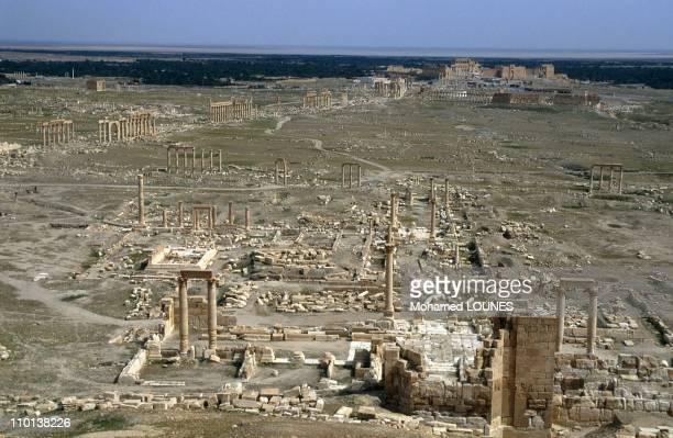 Illustration: in Palmyra, Syria in April, 1998 - Palmyre.