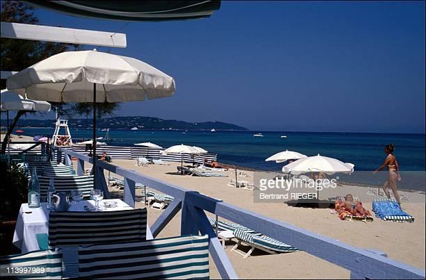 Illustration In Saint Tropez France In 1997Twins beach Pampelonne Ramatuelle beach