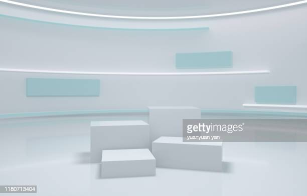 3d illustration indoor background - winners podium stock pictures, royalty-free photos & images