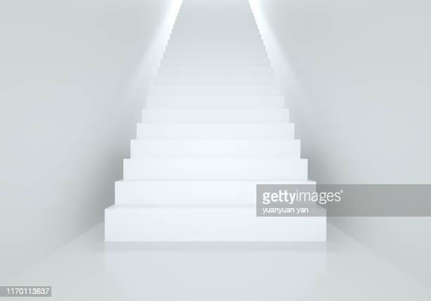 3d illustration indoor staircase - escalones fotografías e imágenes de stock