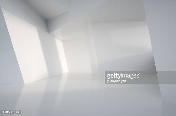 3d illustration interior design background - copy space stock-fotos und bilder