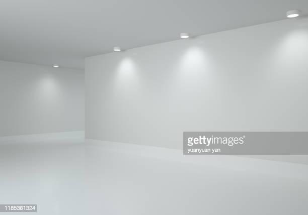 3d illustration interior design background - espacio en blanco fotografías e imágenes de stock