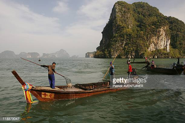 Illustration Islands Of The South Thailand In February 2008 Phang Nga Bay is made up of a multitude of limestone pitons covered with vegetation The...