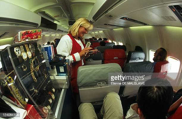 Illustration Life in flight In France In January 1998 Duty free sale on board