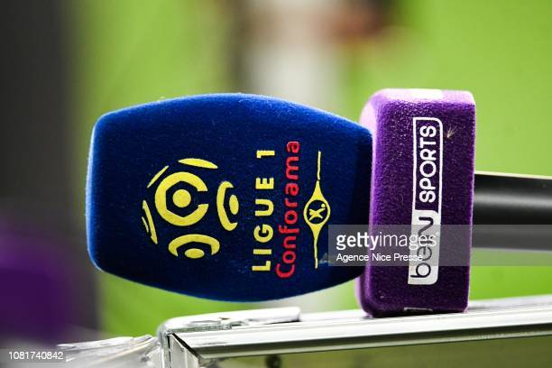 Illustration Ligue 1 Conforama Bein Sports during the Ligue 1 match between Nice and Bordeaux at Allianz Riviera on January 12, 2019 in Nice, France.