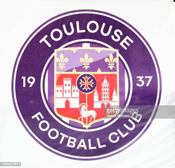 Illustration Logo Toulouse during the Ligue 1 match between Toulouse FC and Rennes at Stadium Municipal on February 29, 2020 in Toulouse, France.