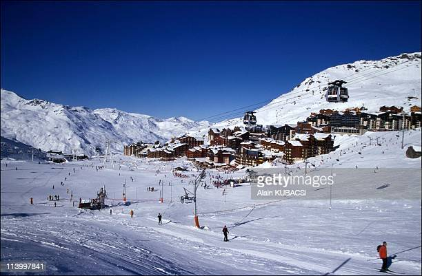 Illustration Mountain Landscapes In Val Thorens France In 1998Val thorens