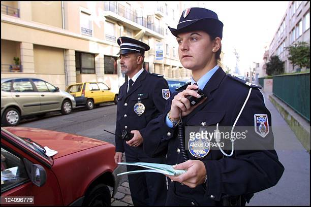 Illustration Municipal Police in Lyon France on October 04 2001