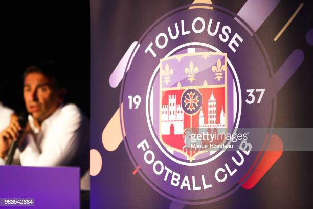 Olivier Sadran president of Toulouse during the presentation of the new logo of Toulouse on June 25 2018 in Toulouse France