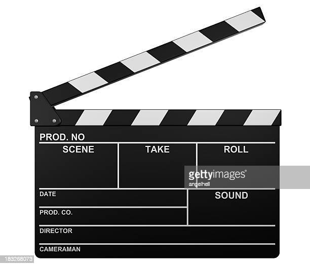 Illustration of a blank open film slate
