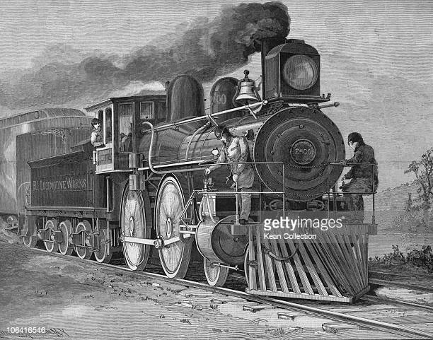 Illustration of a compound locomotive made by the Rhode Island Locomotive Works circa 1895