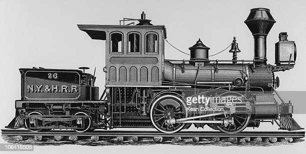 Illustration of a 'Forney' locomotive for suburban traffic on the New York and Harlem railroad built by the Schenectady Locomotive Works circa 1880