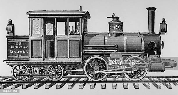 Illustration of a 'Forney' locomotive for the New York Elevated Railroad built by the Baldwin Locomotive Works of Philadelphia in 1878