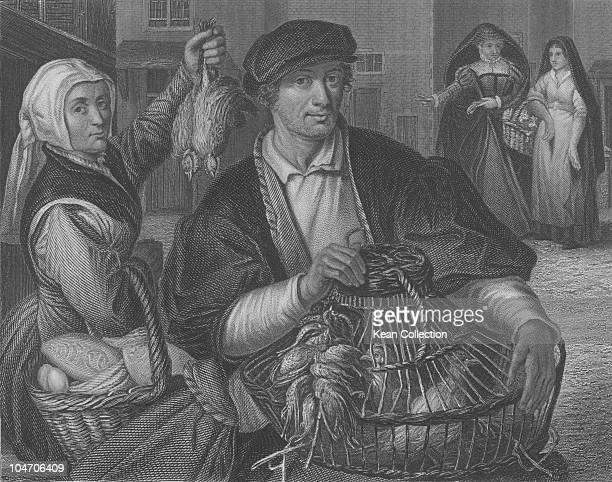 Illustration of a game dealer circa 18th century