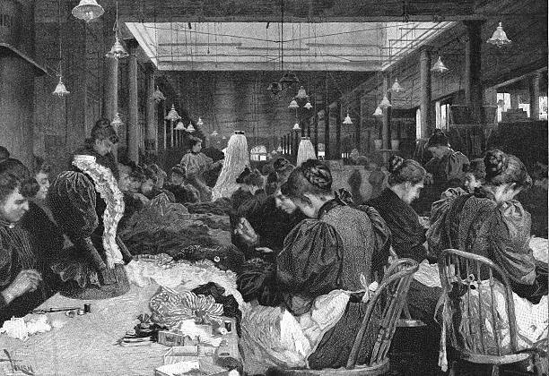 Dressmakers In A Department Store Wall Art