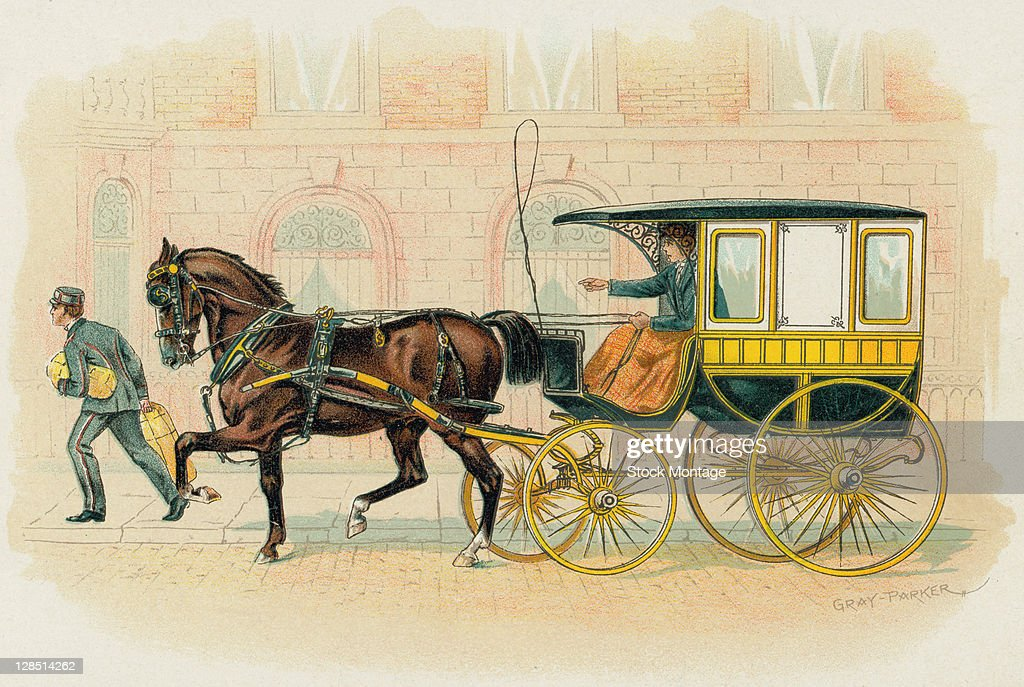Illustration Of A Horse Drawn Studebaker Carriage 1893 The Image News Photo Getty Images