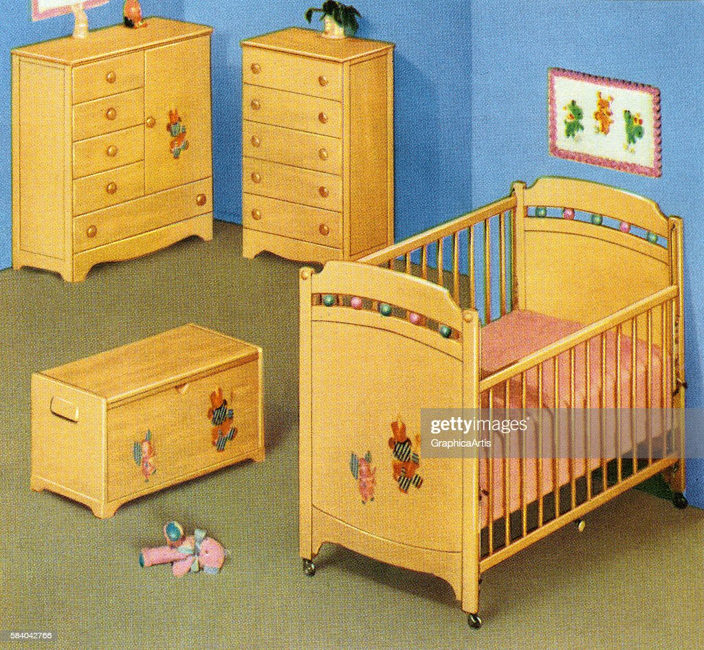 Retro Nursery Furniture Set News Photo
