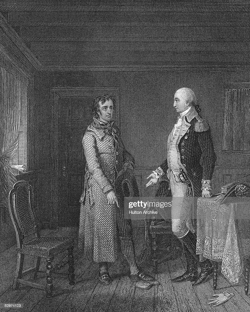 Illustration Of Scene With George Washington From 'The Spy' : News Photo