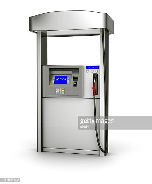 illustration of a silver fuel pump over a white background - gas pump stock pictures, royalty-free photos & images