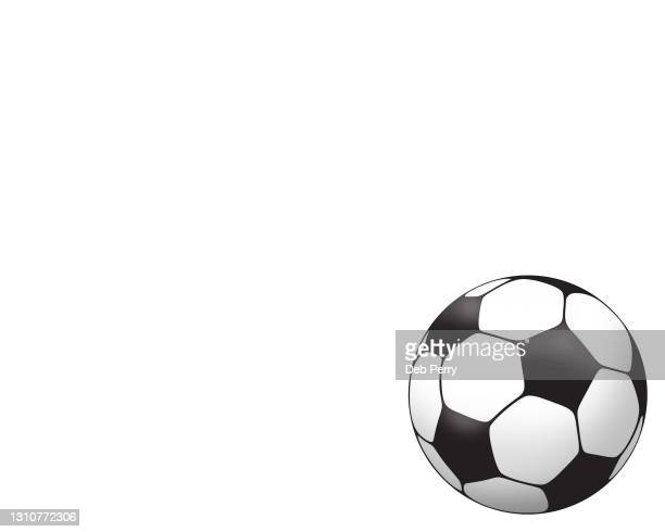 illustration of a soccer ball - ball stock pictures, royalty-free photos & images