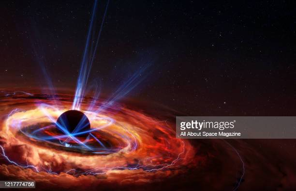 Illustration of a star collapsing in on itself to form a black hole, created on January 13, 2020.
