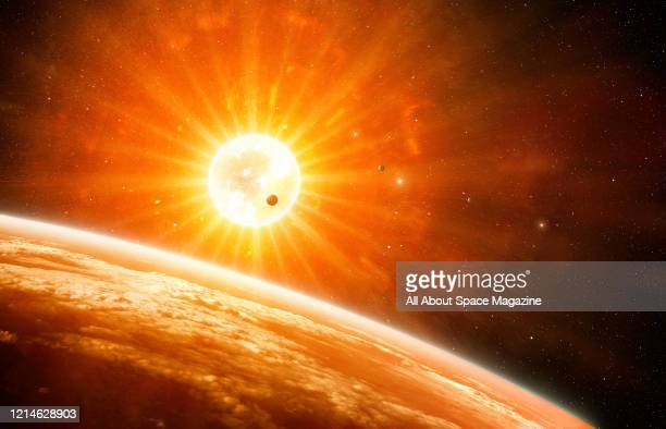 Illustration of a supernova explosion, created on July 19, 2015.