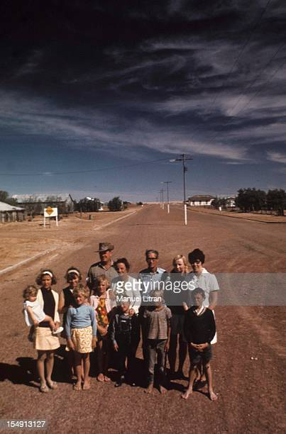 Illustration of Australia, The 13 inhabitants of Birdsville, the district capital of Diamantina in Far West Queensland, Separated from the next...