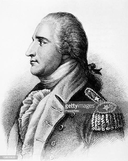 Illustration of Benedict Arnold American general during the Revolutionary War who then defected to the British Army and plotted to surrender West...