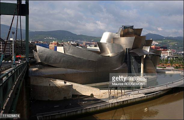 Illustration of Bilbao Spain on March 14th 2005 Guggenheim museum