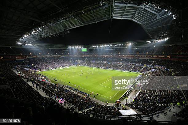 Illustration of brand new 'Parc Olympique Lyonnais' stadium during the French Ligue 1 match between Olympique Lyonnais and Troyes ESTAC at Parc...