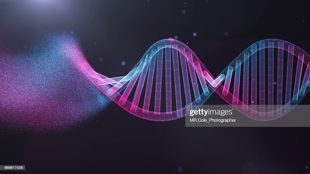 illustration of DNA  Futuristic digital Abstract  background for Science and technology : Stock-Foto
