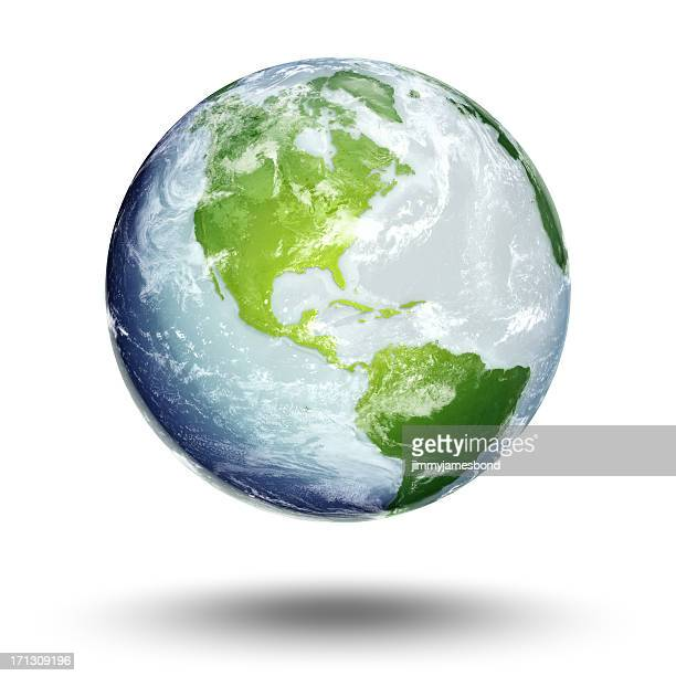 illustration of earth's western hemisphere and the americas - global stock pictures, royalty-free photos & images