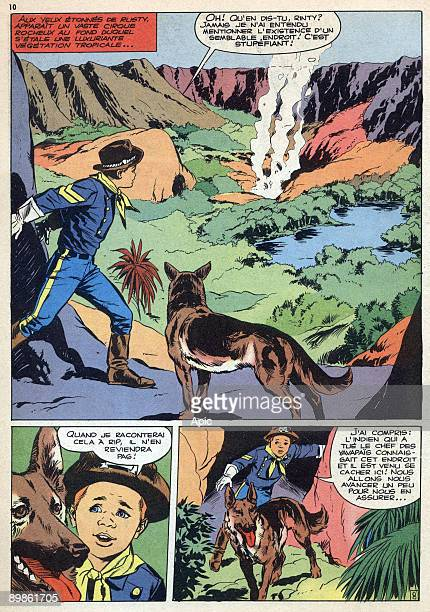 Illustration of french comics Rin Tin Tin et Rusty 1964