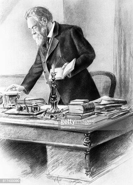 Illustration of Friedrich Engels German socialist philosopher Undated